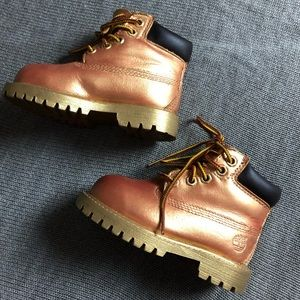 Custom kids timberland construction boots